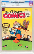Golden Age (1938-1955):Cartoon Character, Walt Disney's Comics and Stories #94 (Dell, 1948) CGC VF 8.0Off-white pages....