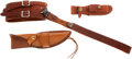 Edged Weapons:Knives, Miscellaneous Leather Items owned by Warren Page.. ... (Total: 3 Items)