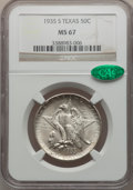 Commemorative Silver, 1935-S 50C Texas MS67 NGC. CAC....