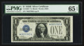 Small Size:Silver Certificates, Fr. 1602* $1 1928B Silver Certificate. PMG Gem Uncirculated 65 EPQ.. ...