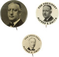 Political:Pinback Buttons (1896-present), Al Smith: Three Picture Pins.... (Total: 3 Items)
