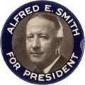 Political:Pinback Buttons (1896-present), Al Smith: Large Picture Pin....