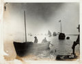 Photography:Official Photos, Alaska Gold Rush: A Significant 1898-dated Image of Lake Barge with a Flotilla of Vessels. ...