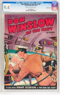 Golden Age (1938-1955):War, Don Winslow of the Navy #19 Crowley Copy pedigree (FawcettPublications, 1944) CGC NM 9.4 Cream to off-white pages....