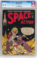 Golden Age (1938-1955):Science Fiction, Space Action #3 (Ace, 1952) CGC FN+ 6.5 Off-white to whitepages....