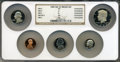 Proof Roosevelt Dimes, Five-Piece 1983-S Proof Set Featuring No S Dime NGC.... (Total: 5coins)