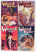 Pulps:Horror, Weird Tales Group (Popular Fiction, 1934-35) Condition: AverageGD+.... (Total: 4 Comic Books)