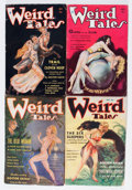 Pulps:Horror, Weird Tales Group (Popular Fiction, 1934-35) Condition: AverageGD/VG.... (Total: 4 Comic Books)