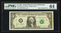 Error Notes:Major Errors, Fr. 1913-E $1 1985 Federal Reserve Note. PMG Choice Uncirculated64.. ...
