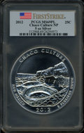 Modern Bullion Coins, 2012 25C Chaco Culture National Park Five Ounce Silver, FirstStrike MS69 Prooflike PCGS. PCGS Population (248/0). NGC ...