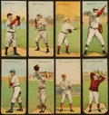 Baseball Cards:Lots, 1911 T201 Mecca Double Folders Collection (8) With HoFers. ...