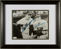 Baseball Collectibles:Photos, Ted Williams and Joe DiMaggio Multi Signed Photograph....