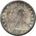 Early Half Dollars: , 1806/5 50C AU58 NGC. O-102, R.3. The overdate 5 is clear under the6. Misattributed by NGC as an O-103, which shows five be...