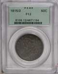 Bust Half Dollars: , 1815/2 50C Fine 12 PCGS. O-101, R.2. Deep lavender-gray toningembraces relatively unabraded surfaces. All legends are clea...