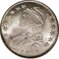Bust Half Dollars: , 1818 50C MS65 PCGS. O-104a, R.3. This splendid Capped Bust halfexhibits booming luster and delicate honey patina. The obve...