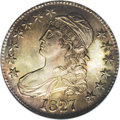 Bust Half Dollars: , 1827 50C Curl Base 2 MS63 NGC. O-146, R.2. This Overton varietymarries the Curl Base 2 date style with a reverse on which ...