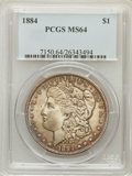 Morgan Dollars: , 1884 $1 MS64 PCGS. PCGS Population (5278/2480). NGC Census:(6550/2150). Mintage: 14,070,875. Numismedia Wsl. Price for pro...