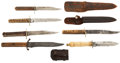 Edged Weapons:Knives, Lot of Six 19th Century Bone-Handled Bowie Knives.... (Total: 6 Items)