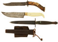 Edged Weapons:Knives, Lot of Three Sheath Knives.... (Total: 3 Items)