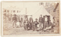 Photography:CDVs, Great Carte-De-Visite View Of Soldiers Lounging Around Their Large Wall Tent. ...