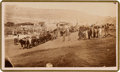 Photography:CDVs, Scarce CDV Image: Mormon Emigrant Wagon Train- Coalville. ...