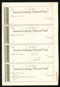 Miscellaneous:Other, New York and Philadelphia Check Proof Sheets.. ... (Total: 3 items)