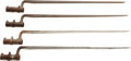 Edged Weapons:Bayonets, Lot of Four U.S. Socket Bayonets.... (Total: 4 Items)