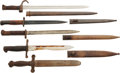 Edged Weapons:Bayonets, Lot of Five European Military Knives and Bayonets.... (Total: 5 Items)