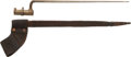 Edged Weapons:Bayonets, Civil War .58 Caliber Socket Bayonet and Scabbard....