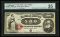 Large Size:Legal Tender Notes, Fr. 185l $500 1880 Legal Tender PMG Choice Very Fine 35.. ...