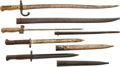 Edged Weapons:Bayonets, Lot of Four Bayonets: French, German and Yugoslavian.... (Total: 4 Items)