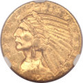 Indian Half Eagles, 1910-S $5 MS61 NGC. CAC....