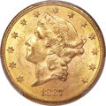 Liberty Double Eagles, 1887-S $20 MS62 PCGS. CAC....