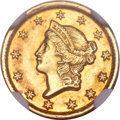 Gold Dollars, 1849-D G$1 MS61 NGC. Variety 1-A....