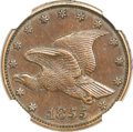 Patterns, 1855 P1C Flying Eagle Cent, Judd-168 Original, Pollock-193, R.4,MS61 Brown NGC....