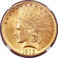 Indian Eagles, 1915-S $10 AU58 NGC....