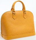 Luxury Accessories:Bags, Louis Vuitton Yellow Epi Leather Alma PM Top Handle Bag. ...