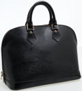 Luxury Accessories:Bags, Louis Vuitton Black Epi Leather Alma PM Top Handle Bag. ...