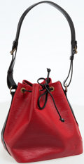 Luxury Accessories:Bags, Louis Vuitton Black and Red Epi Leather Petit Noe Shoulder Bag. ...