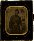 Photography:Ambrotypes, Half Plate Ambrotype of a Confederate Officer, Likely Texas....