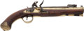 Antiques:Antiquities, Rare English Brass-Barreled Blunderbuss Flintlock Pistol with Spring-Loaded Bayonet by Archer.... (Total: 2 Items)