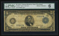 Fr. 856* $5 1914 Federal Reserve Note PMG Good 6