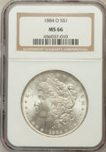 Morgan Dollars: , 1884-O $1 MS66 NGC. NGC Census: (1834/106). PCGS Population(1225/58). Mintage: 9,730,000. Numismedia Wsl. Price for proble...