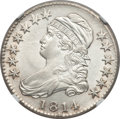 Bust Half Dollars: , 1814 50C -- Improperly Cleaned -- NGC Details. AU. O-104a. NGCCensus: (33/387). PCGS Population (42/259). Mintage: 1,039,...