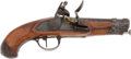 Handguns:Muzzle loading, French Military Flintlock Pistol Dated 1811....