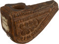 Military & Patriotic:Civil War, Fine Carved Burl Wood Pipe ID' D To The 2nd New York State Vols....