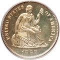 Proof Seated Half Dimes: , 1867 H10C PR64 PCGS. PCGS Population (48/37). NGC Census: (74/71).Mintage: 625. Numismedia Wsl. Price for problem free NGC...