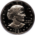 Proof Susan B. Anthony Dollars: , 1981-S SBA$ Type Two PR70 Deep Cameo PCGS. PCGS Population (105).NGC Census: (18). Numismedi...