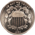 Proof Shield Nickels: , 1881 5C PR66 NGC. NGC Census: (172/25). PCGS Population (138/22).Mintage: 3,575. Numismedia Wsl. Price for problem free NG...