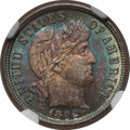 Barber Dimes, 1892 10C MS66 NGC. CAC. NGC Census: (64/20). PCGS Population(61/9). Mintage: 12,121,245. Numismedia Wsl. Price for problem...